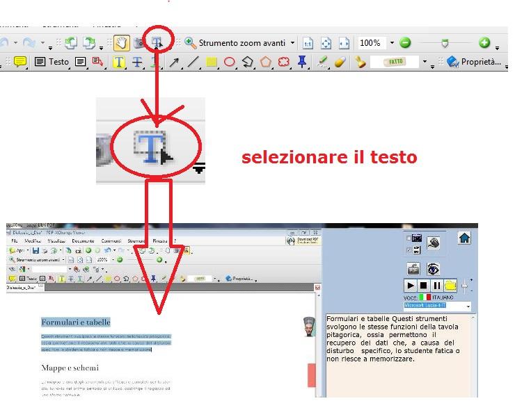 selezionare il testo PDFxchange