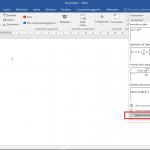 Scrivere le formule in Word