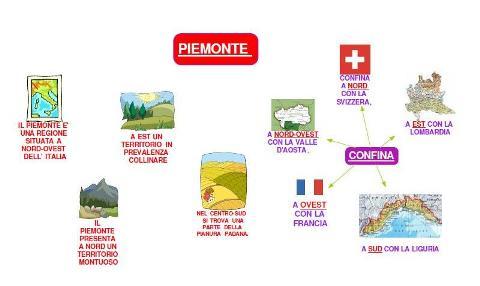 Mappa sul Piemonte realizzata con Supermappe